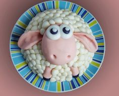 Shaun the sheep cake! From Wallace and Grommit!