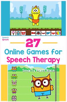 A great list of fun open-ended online games for kids that will keep your teletherapy groups engaged in speech therapy. Includes games for toddlers, preschool and elementary, and a few for older kids too #speechsprouts #speechtherapygames #teletherapy Preschool Speech Therapy, Speech Activities, Speech Language Therapy, Speech Therapy Activities, Language Activities, Speech And Language, Speech Pathology, Preschool Songs, Play Therapy