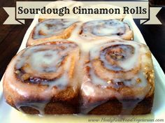 Sourdough Cinnamon Rolls (Naturally Sweetened with palm sugar and honey) @ Healy Real Food Vegetarian Sourdough Cinnamon Rolls, Sourdough Recipes, Sourdough Bread, Bread Recipes, Oats Recipes, Rice Recipes, Chicken Recipes, Whole Food Recipes, Cooking Recipes