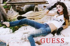 Bianca Balti for Guess by Marciano  # love the guess ads ❤ GG's tiny times