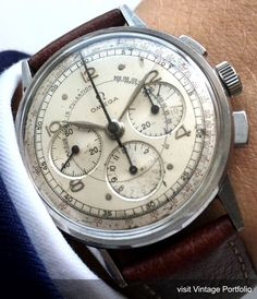 Doctors Vintage Omega Chronograph Watch Pulsometer 35mm 1944