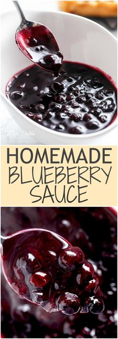 Homemade Blueberry Sauce | http://cafedelites.com