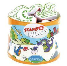 Kinderstempel Stampo Minos Drachen von Aladine ab 3 Jahren