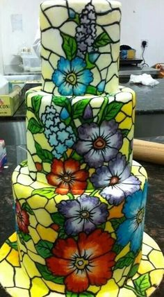 Stained glass cake.  Beautiful.