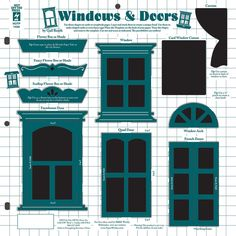 Window Templates: enlarge or reduce as needed | Designs, Patterns ...