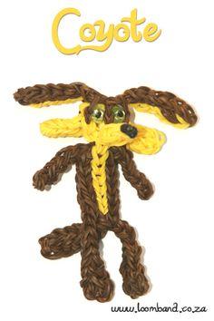 coyote loom band figurine tutorial - Loomband