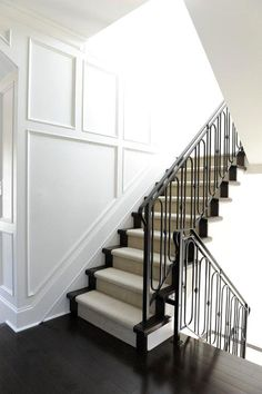Iron railings, wains  Iron railings, wainscoting