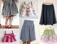 Various skirt tutorials | How About Orange