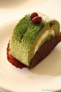 matcha sponge roll (cake roll) ★ Brazo Gitano de green tea