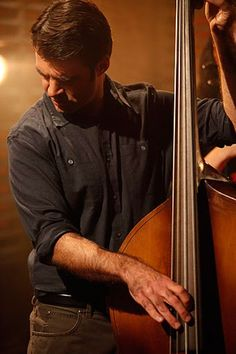 Bob Crawford of the Avett Brothers gives the band some bass at the Starburst Unplugged session on May 19, 2011.