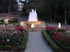Beautiful Fairhope, AL - Fountain and Rose Garden