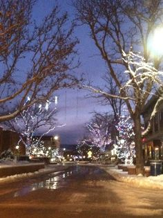 Holiday lights in downtown Grand Junction.