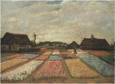 Vincent van Gogh: Bulb Fields. Oil on canvas on board. National Gallery of Art, Mellon. Collection.