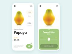 🥭 Fruit store app by ・・・・・・・・・・・・・・・・・・・・・・・・・・ 🔥 Want to be featured? ⠀ Use or tag to be featured… Web Design, Ios App Design, Interface Design, User Interface, Flat Design, Layout Design, Website Design Inspiration, Ui Inspiration, Ui Design Mobile