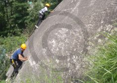 Advance #Mountaineering Course - Trainees practising Lead #Climbing on Demo #Rock