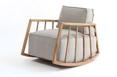 Love this rocking chair's more modern look
