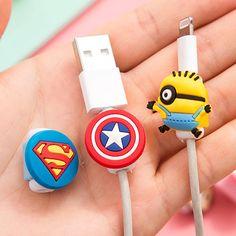 10 pz/lotto Cartoon USB Cavo Degli Auricolari linea di cuffie di Protezione saver Per Il telefono Mobile di ricarica cavo dati linea di protezione