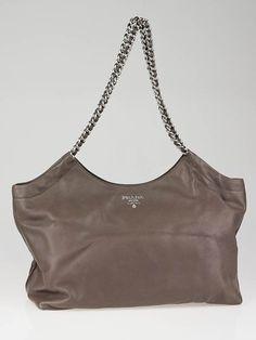 79111ee3738b Prada Bambu Soft Calfskin Leather Chain Tote Bag BR4487 Prada Bag