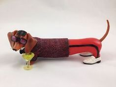 Hot-Diggity-Dog-Dachshund-Dapper-Frank-Figurine