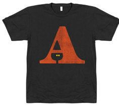 A Witch Letterpress Typography Design Illustration T-shirt