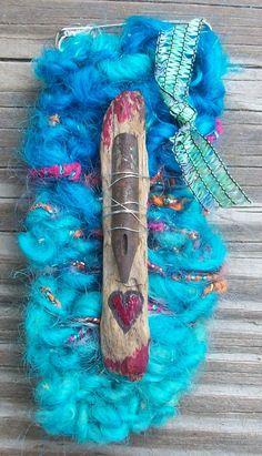 Bits and Treasures Knit Mixed Media Pin by AngieHallHaviland, $13.00