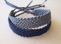 Simple macrame bracelet in gray or blue colour. by KnotknotBijoux for men Simple macrame bracelet in gray and light blue colour. Friendship bracelet Gift for him Boho summer style jewelry for men Macrame Bracelet Patterns, Macrame Jewelry, Macrame Bracelets, Friendship Bracelet Patterns, Boho Jewelry, Friendship Bracelets, Fashion Jewelry, Women Jewelry, Crystal Jewelry