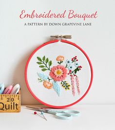 Embroidered Bouquet Tutorial