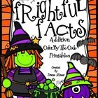 Frightful Facts: Basic Addition Halloween Color By The Code Math Puzzles  ~This Color By Number Unit Is Aligned To The CCSS. Each Page Has The Spec...