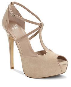 Truth or Dare by Madonna Shoes #heels #platform #nude #suede #macys BUY NOW!