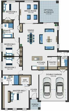 Austen 25 Vesta Homes 4 Bedroom House Plans, Family House Plans, New House Plans, Dream House Plans, Small House Plans, Modern House Floor Plans, Home Design Floor Plans, Contemporary House Plans, House Layout Plans