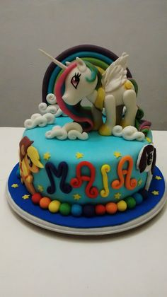 Torta mi pequeño pony Birthday Cake, Desserts, Food, My Little Pony, Food Cakes, Tailgate Desserts, Birthday Cakes, Deserts, Meals
