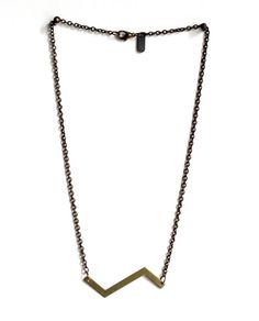 Brass Zigzag Necklace Uncovet