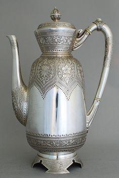 Persian Silver Pot for Tea Serving