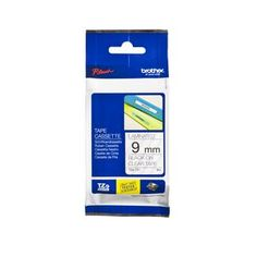 Brother TZe-121 Laminated Tape 9mm x 8m Black on Clear