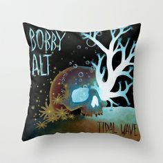 Tidal Wave (Bobby Alt) Throw Pillow by DBatsheva for Bobby Alt - $20.00