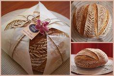 Artisan Bread Recipes, Sourdough Recipes, Sourdough Bread, Bread Gifts, Dutch Oven Bread, Bread Packaging, Bread Art, Dacquoise, How To Make Bread