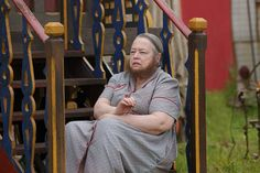 Pin for Later: Fall TV Is Here! Get Excited With All the Season Premiere Pictures American Horror Story Kathy Bates plays Ethel, Dell's bearded ex-wife.