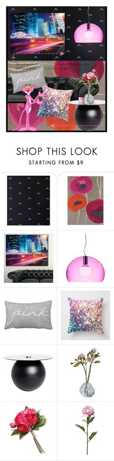 """""""All the colours of the rainbow, especially pink"""" by annacullart ❤ liked on Polyvore featuring interior, interiors, interior design, home, home decor, interior decorating, Grow House Grow, SANDERSON, Design Art and Kartell"""