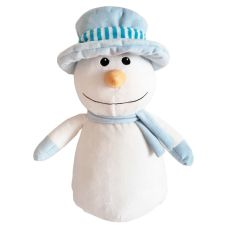Blue Hat Snowman - add your personal message to the tummy