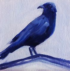 Crow Raven Painting Small Oil on Canvas 4x4 by smallimpressions, 30.00 dollars.  Thanks so Etsy, it's possible to find wonderful, affordable original paintings!