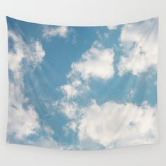 Clouds Wall Hanging Tapestry by Rebekah Joan - Small: x Tapestry Nature, Boho Tapestry, Mandala Tapestry, Tapestry Wall Hanging, Ceiling Tapestry, Tapestry Bedroom, Creative Walls, Teen Room Decor, New Wall