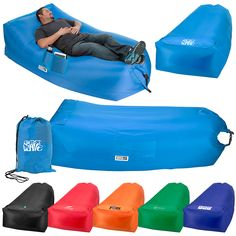 Big Lazy Inflatable/Collapsible/Portable Couch! $27.00/each with a ONE cool imprint on the carrying bag