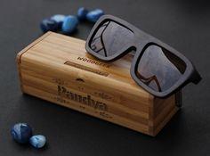 150cc86589771 The Biker - charcoal bamboo rectangular wooden sunglasses