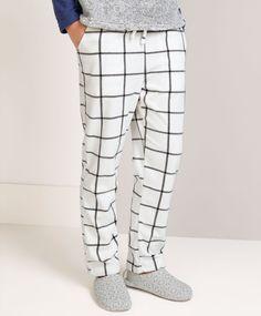 Micro-fleece checked pants - OYSHO