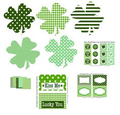 St Patrick Day Free Party Printables St. Patrick's Day #irish, #holidays, #pinsland, https://apps.facebook.com/yangutu