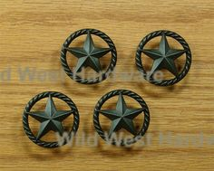 Wonderful Single Star Knob With Rope Edge, Oil Rubbed Bronze Finish
