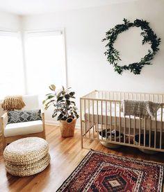 green wreath in nursery