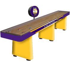 For the LSU man cave shuffleboard
