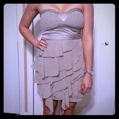 Selling this Grey Strapless Party Dress in my Poshmark closet! My username is: conbon811. #shopmycloset #poshmark #fashion #shopping #style #forsale #Dresses & Skirts