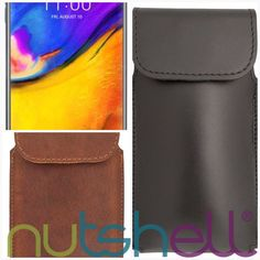 LG V35 ThinQ Smartphone Holster  #smartphone #holster #nutshell #leather #belt #LongLife #clip #cases #smartphoneprotection #mobile